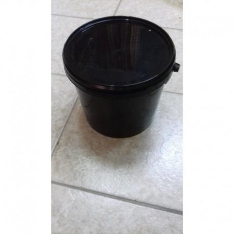Műanyag fekete színű vödör 5l tetővel