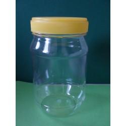 Hengeres mézes flakon, PET 500g