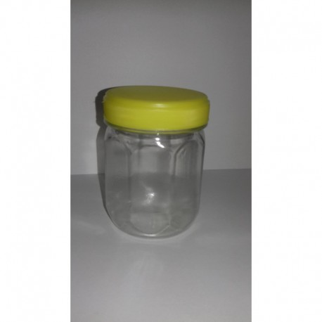 Szögletes mézes flakon PET 250g