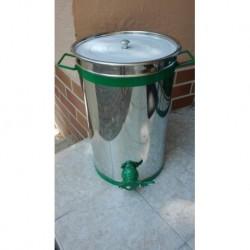 Inox letöltő 35 l-es műanyag csappal