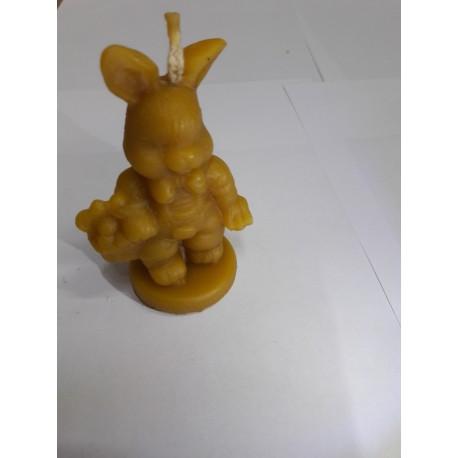 Kosaras nyuszifiú méhviasz gyertya