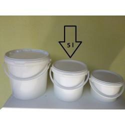 Műanyag vödör 5L tetővel