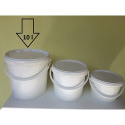 Műanyag 10 literes vödör tetővel