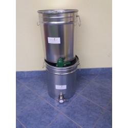 Letöltőtartály INOX csappal 30 liter